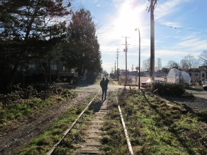 The Old Arbutus Corridor Out of Town
